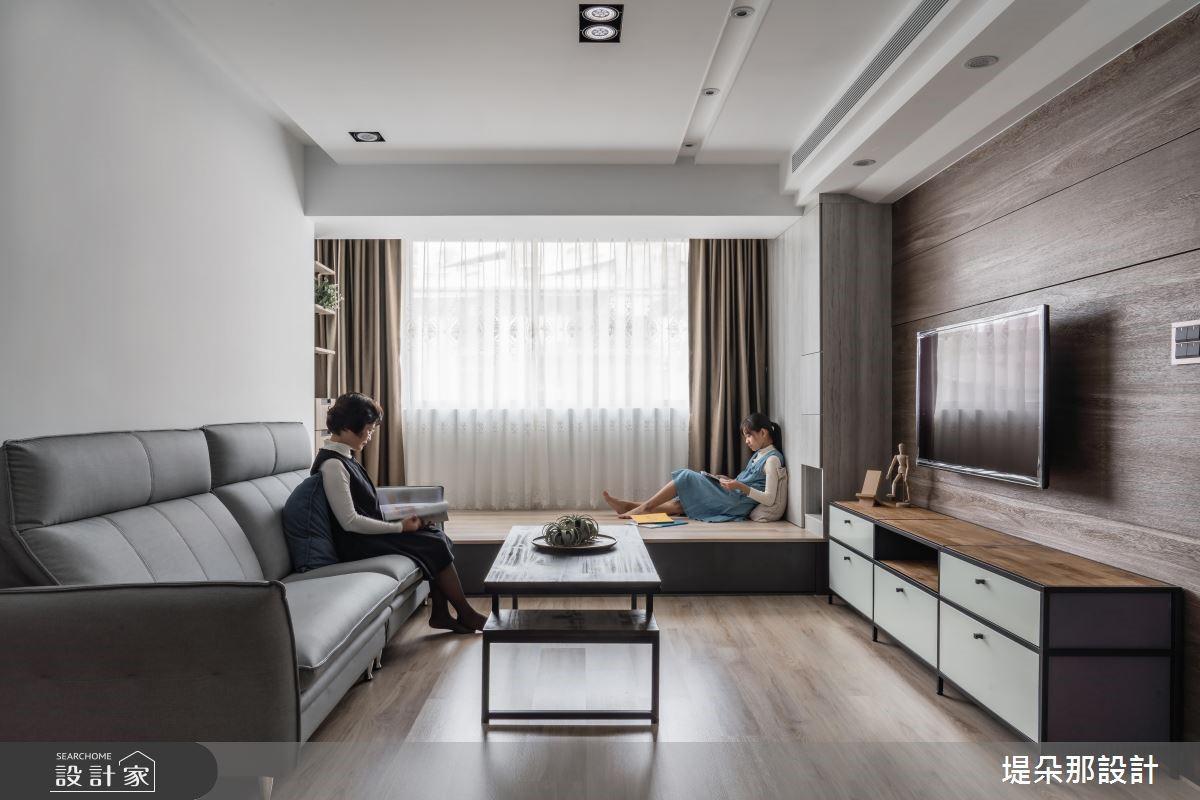 27坪老屋(16~30年)_混搭風客廳和室案例圖片_堤朵那設計 Tectona Design_堤朵那_02之3