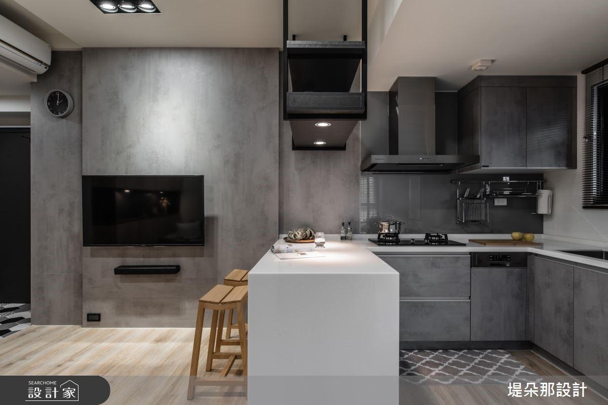 20坪新成屋(5年以下)_混搭風客廳廚房吧檯案例圖片_堤朵那設計 Tectona Design_堤朵那_04之5
