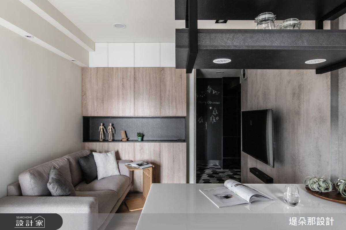 20坪新成屋(5年以下)_混搭風玄關客廳吧檯案例圖片_堤朵那設計 Tectona Design_堤朵那_04之3