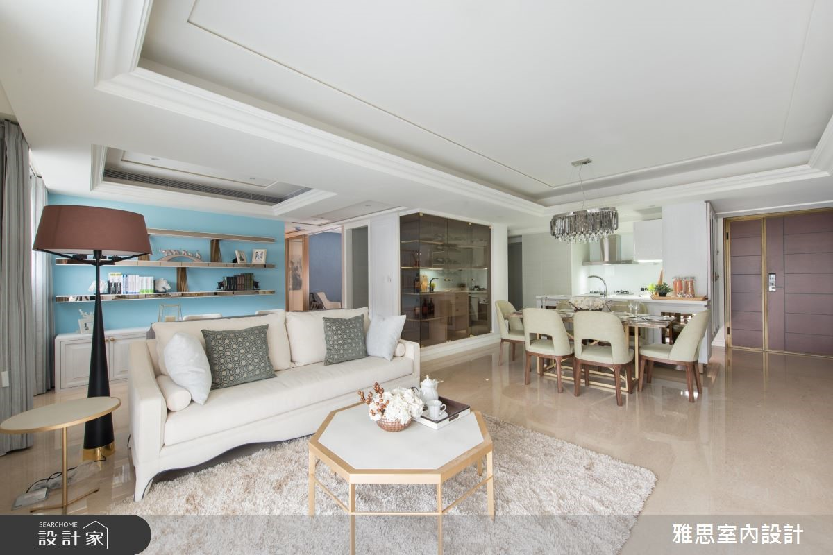 48坪新成屋(5年以下)_新古典客廳案例圖片_雅思室內裝修有限公司_雅思_03之2