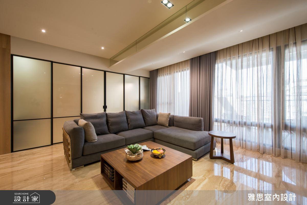 90坪新成屋(5年以下)_現代風客廳案例圖片_雅思室內裝修有限公司_雅思_04之2