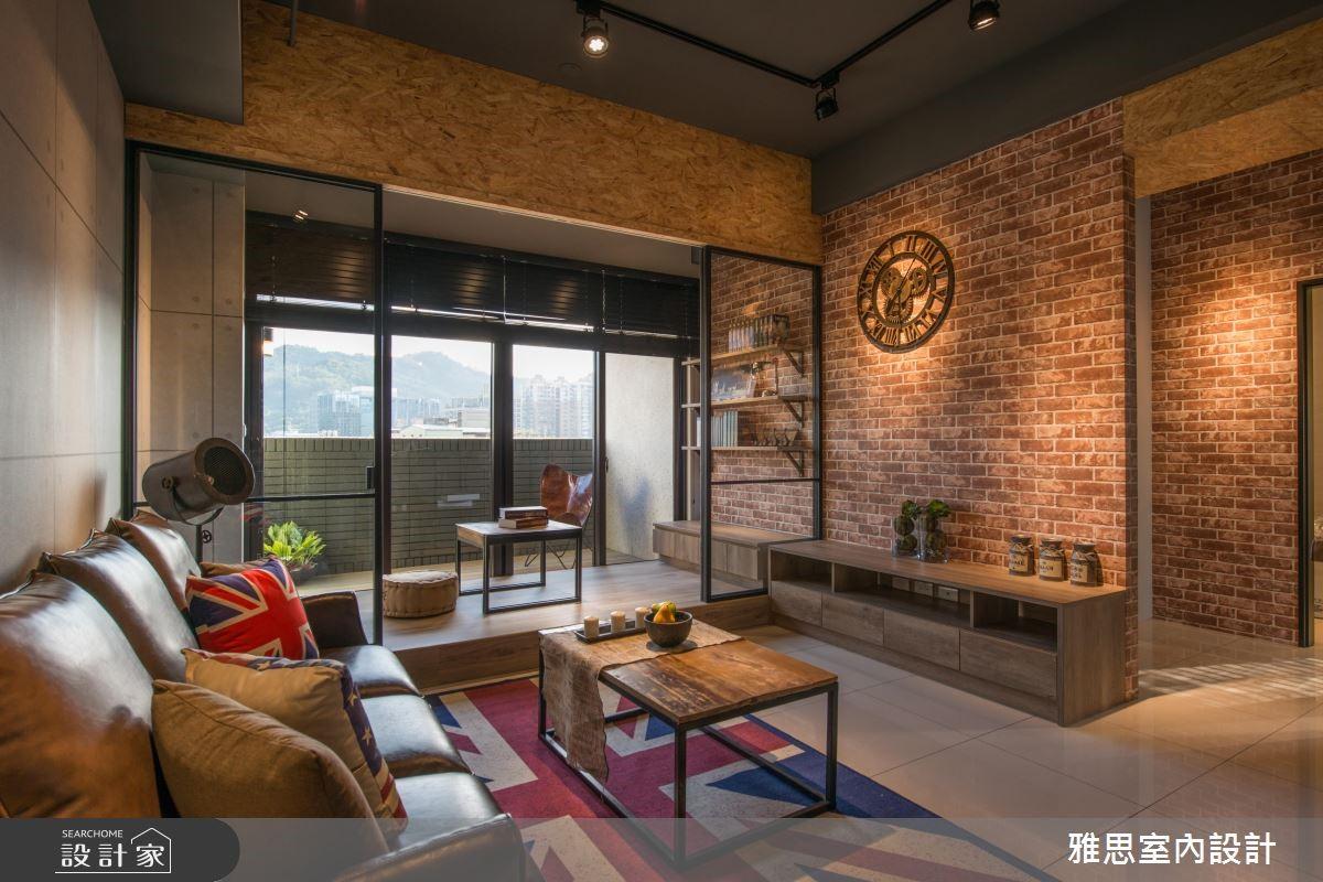 31坪新成屋(5年以下)_工業風客廳案例圖片_雅思室內裝修有限公司_雅思_07之2