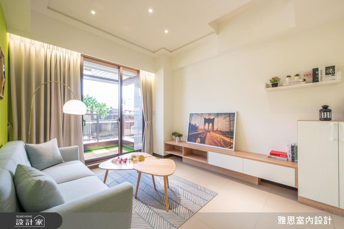 38坪新成屋(5年以下)_北歐風客廳案例圖片_雅思室內裝修有限公司_雅思_13之1