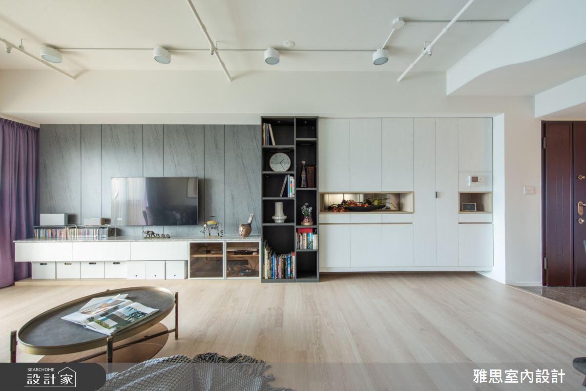 34坪中古屋(5~15年)_現代風客廳案例圖片_雅思室內裝修有限公司_雅思_16之3