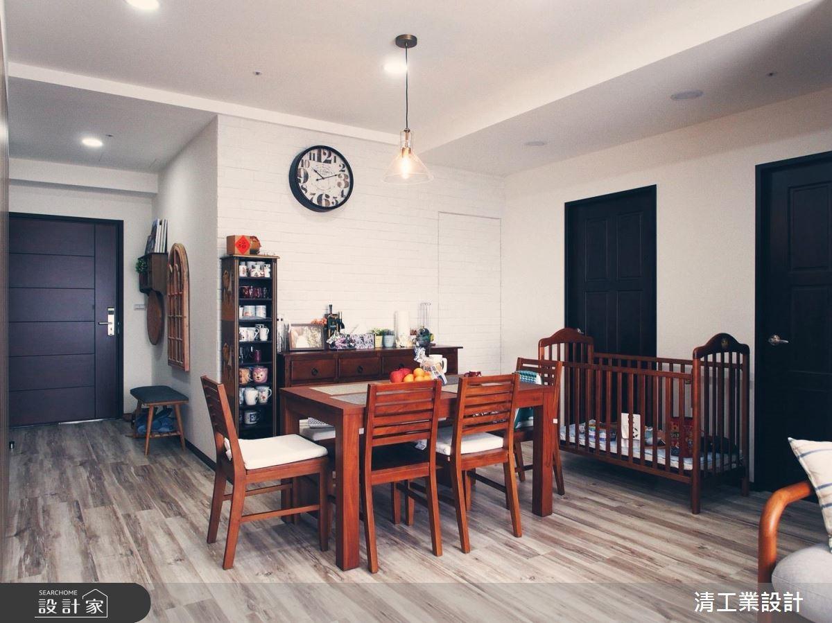 30坪新成屋(5年以下)_混搭風餐廳案例圖片_清工業設計_清工業_01之4