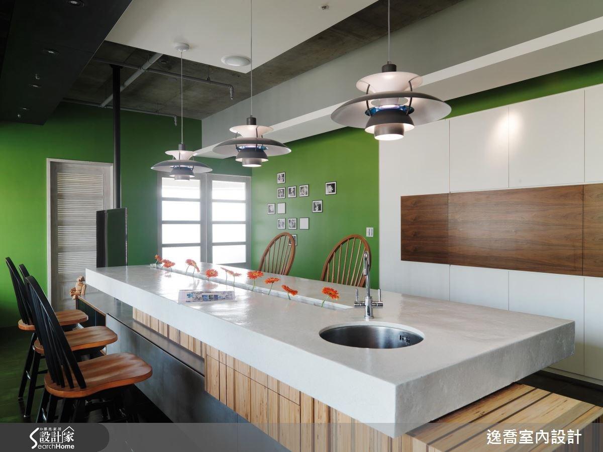 35坪新成屋(5年以下)_現代風廚房中島案例圖片_逸喬室內設計_逸喬_層疊‧情境 Blocks之2