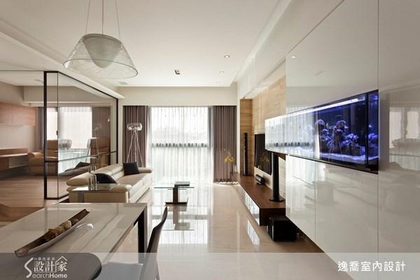 28坪_現代風客廳案例圖片_逸喬室內設計_逸喬_向量光景之4