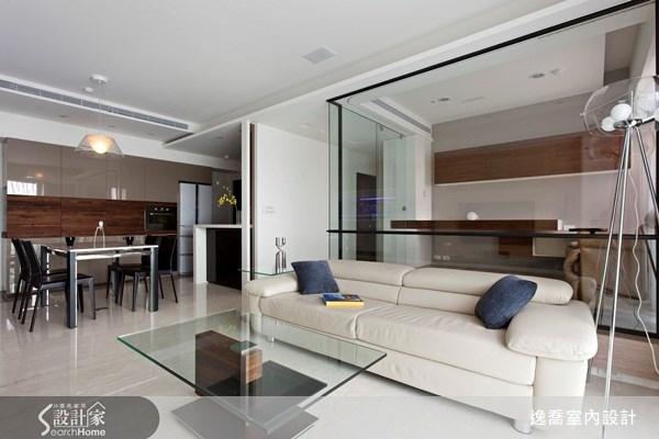 28坪_現代風客廳案例圖片_逸喬室內設計_逸喬_向量光景之5