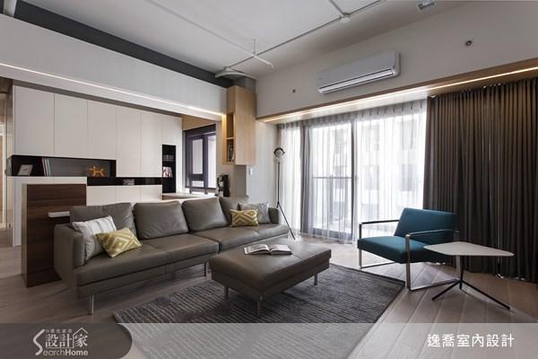 36坪新成屋(5年以下)_工業風客廳案例圖片_逸喬室內設計_逸喬_個性美學 The simple loft之1