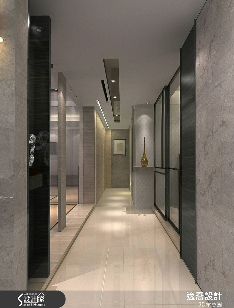 100坪新成屋(5年以下)_現代風走廊案例圖片_逸喬室內設計_逸喬_08之2