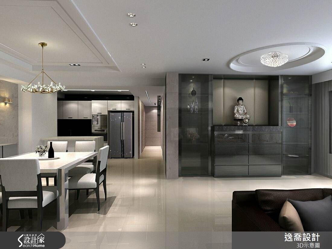 100坪新成屋(5年以下)_現代風客廳佛堂案例圖片_逸喬室內設計_逸喬_08之3
