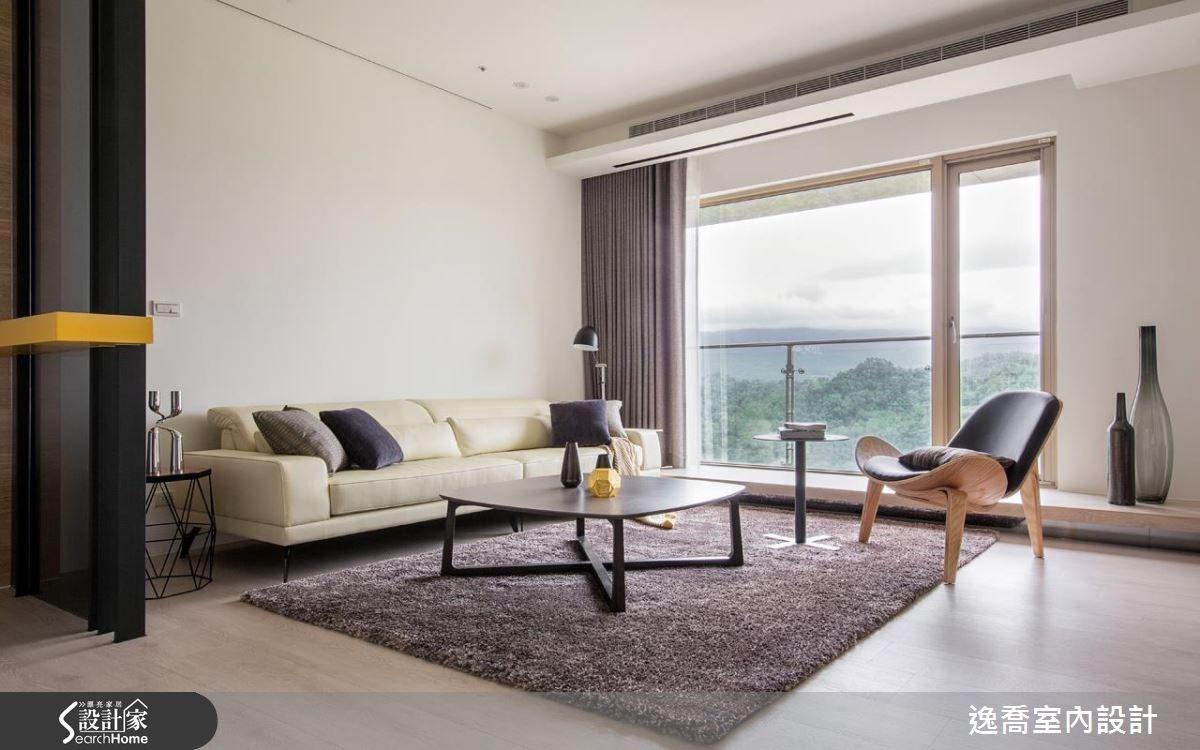 43坪新成屋(5年以下)_北歐風客廳案例圖片_逸喬室內設計_逸喬_光感生活 Sparkling之4