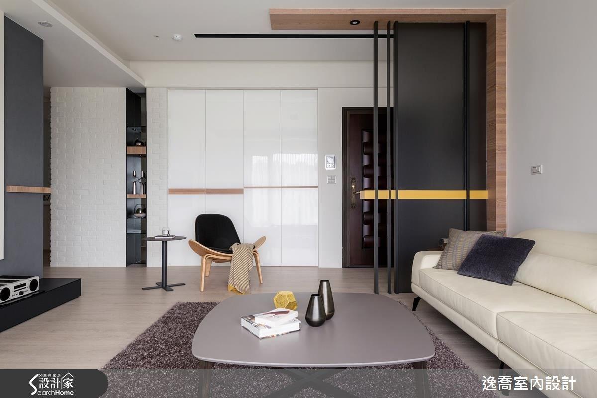 43坪新成屋(5年以下)_北歐風客廳案例圖片_逸喬室內設計_逸喬_光感生活 Sparkling之6