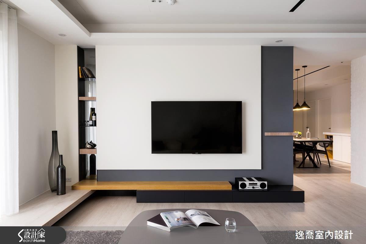 43坪新成屋(5年以下)_北歐風客廳案例圖片_逸喬室內設計_逸喬_光感生活 Sparkling之8