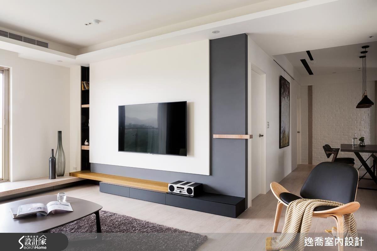 43坪新成屋(5年以下)_北歐風客廳案例圖片_逸喬室內設計_逸喬_光感生活 Sparkling之9
