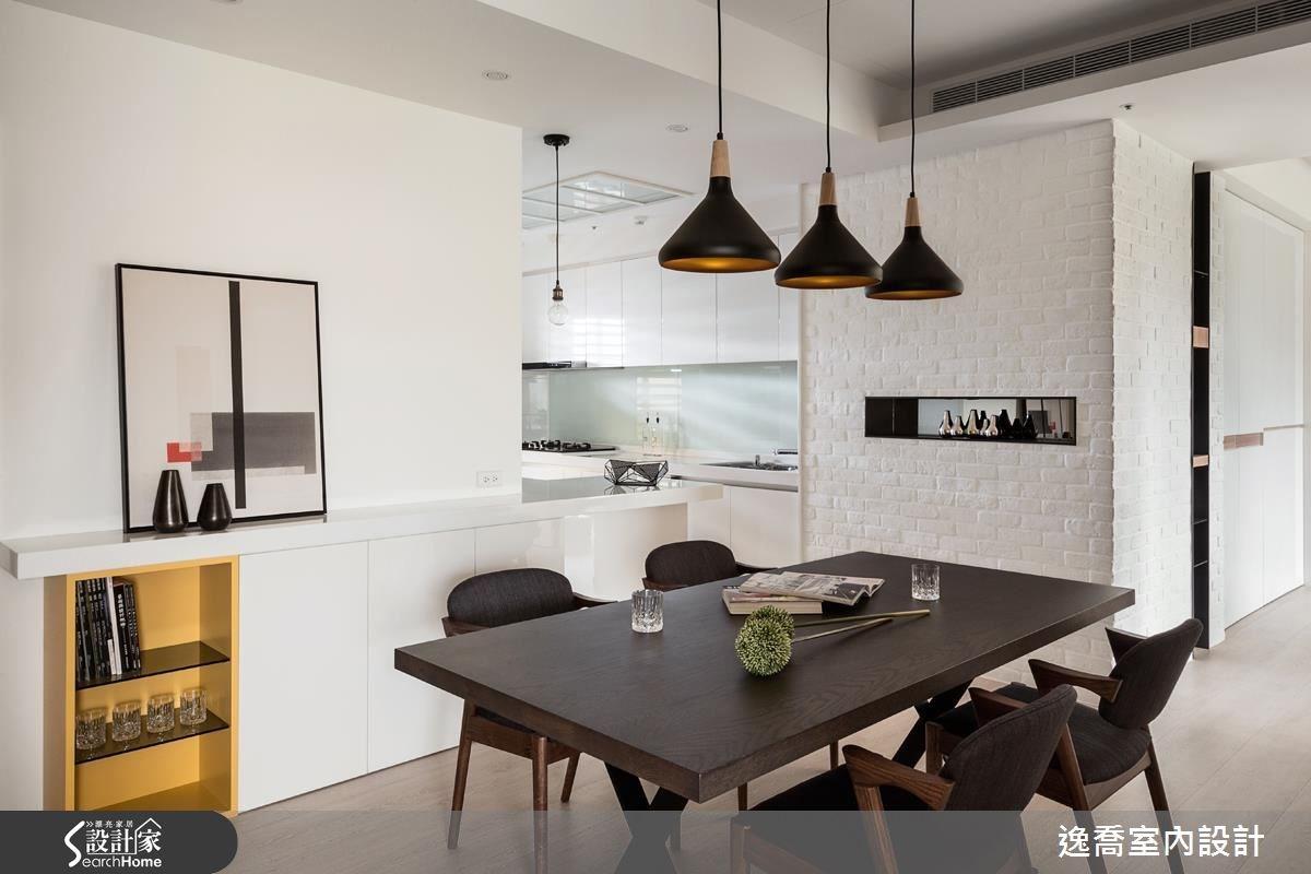 43坪新成屋(5年以下)_北歐風餐廳廚房案例圖片_逸喬室內設計_逸喬_光感生活 Sparkling之12