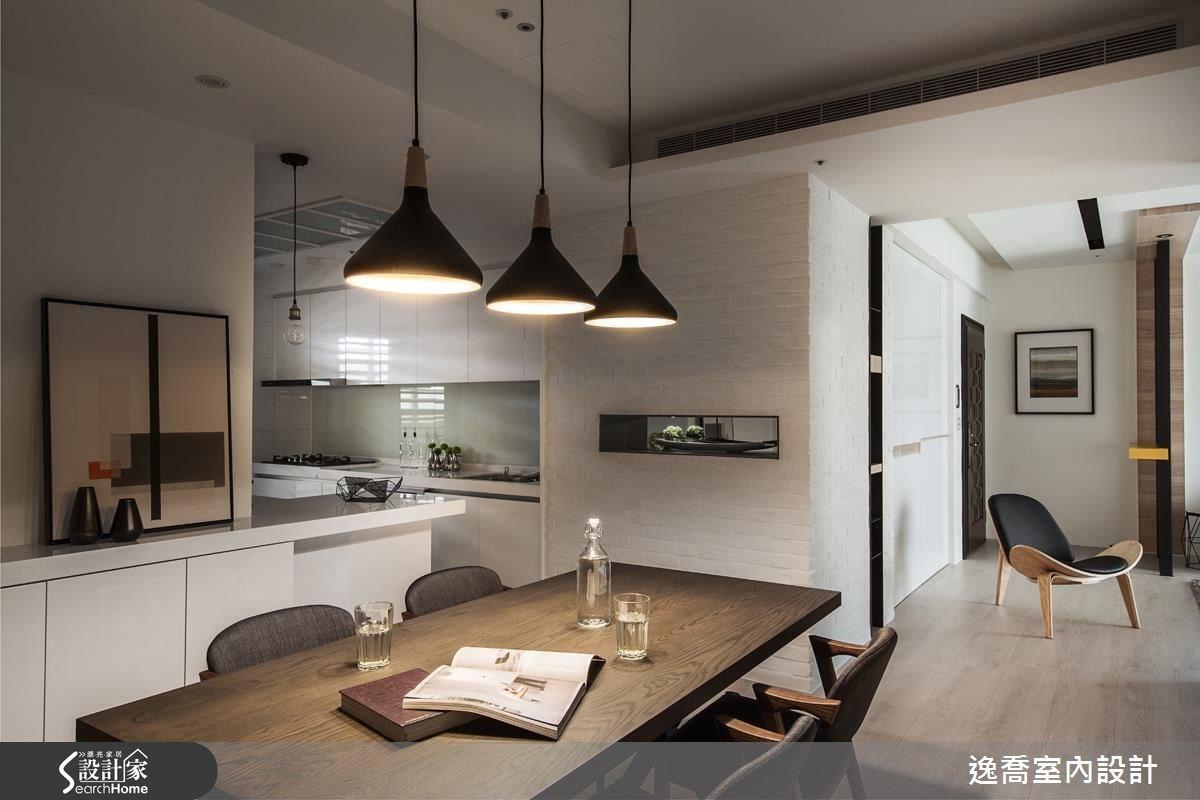 43坪新成屋(5年以下)_北歐風餐廳廚房案例圖片_逸喬室內設計_逸喬_光感生活 Sparkling之13