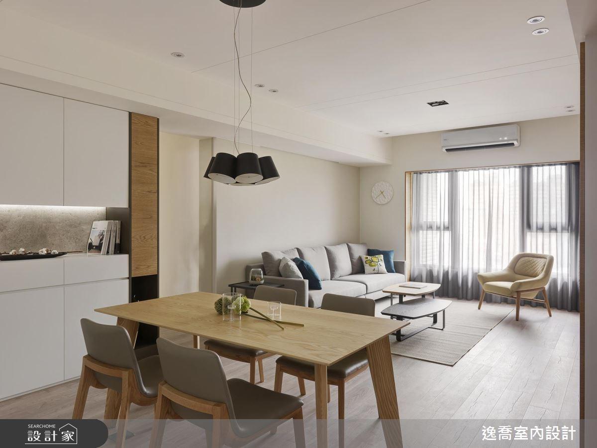 35坪新成屋(5年以下)_現代風餐廳案例圖片_逸喬室內設計_逸喬_木蘊框景 Framing our home之2