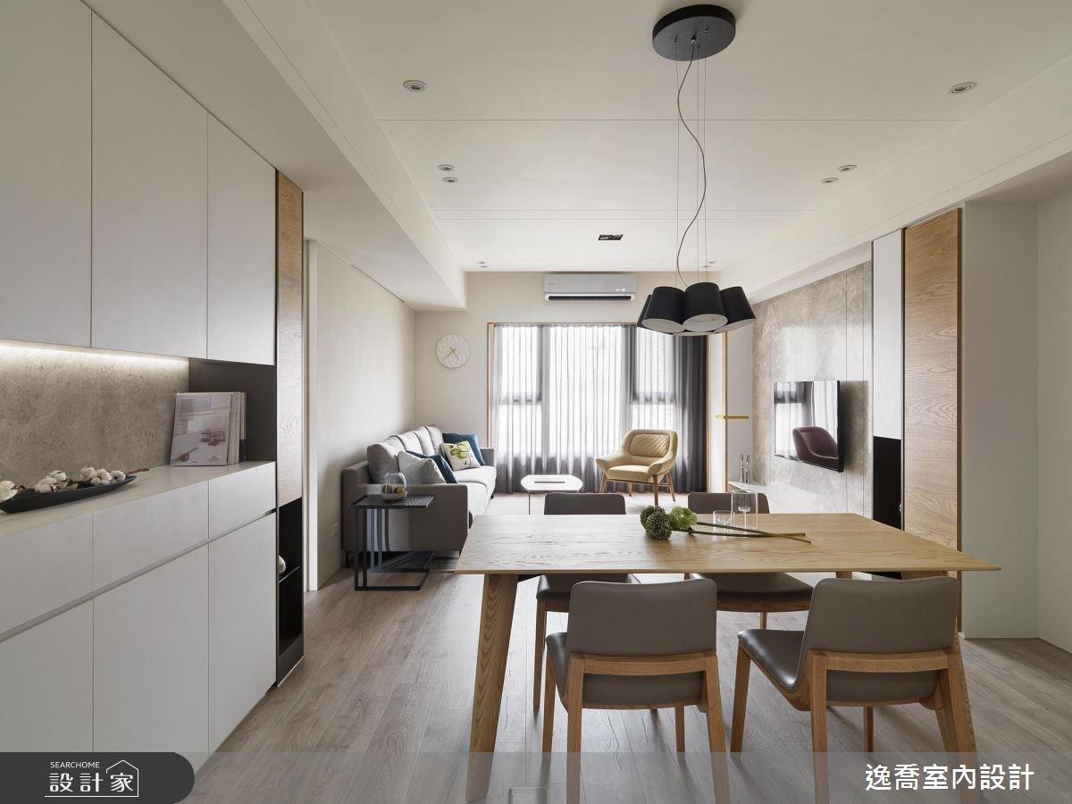 35坪新成屋(5年以下)_現代風餐廳案例圖片_逸喬室內設計_逸喬_木蘊框景 Framing our home之3