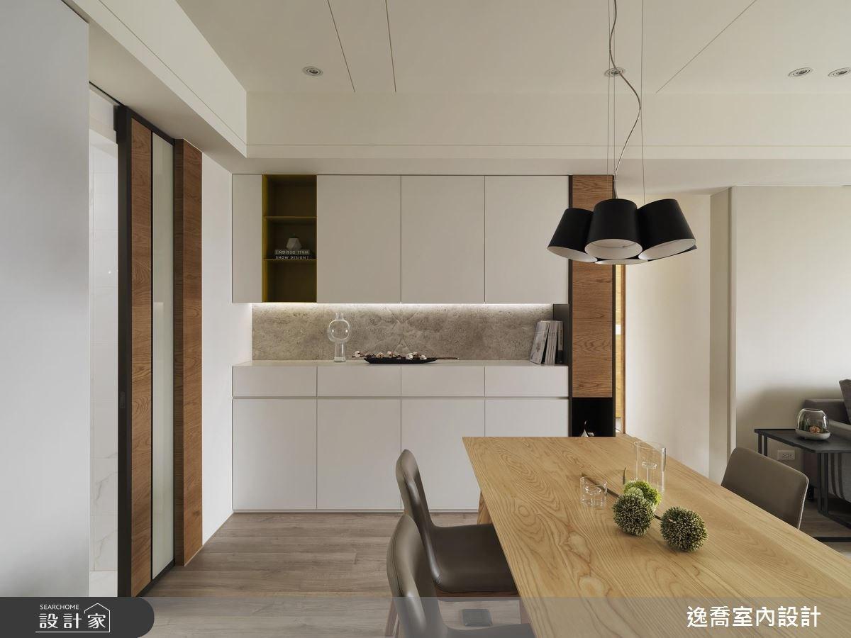 35坪新成屋(5年以下)_現代風餐廳案例圖片_逸喬室內設計_逸喬_木蘊框景 Framing our home之4