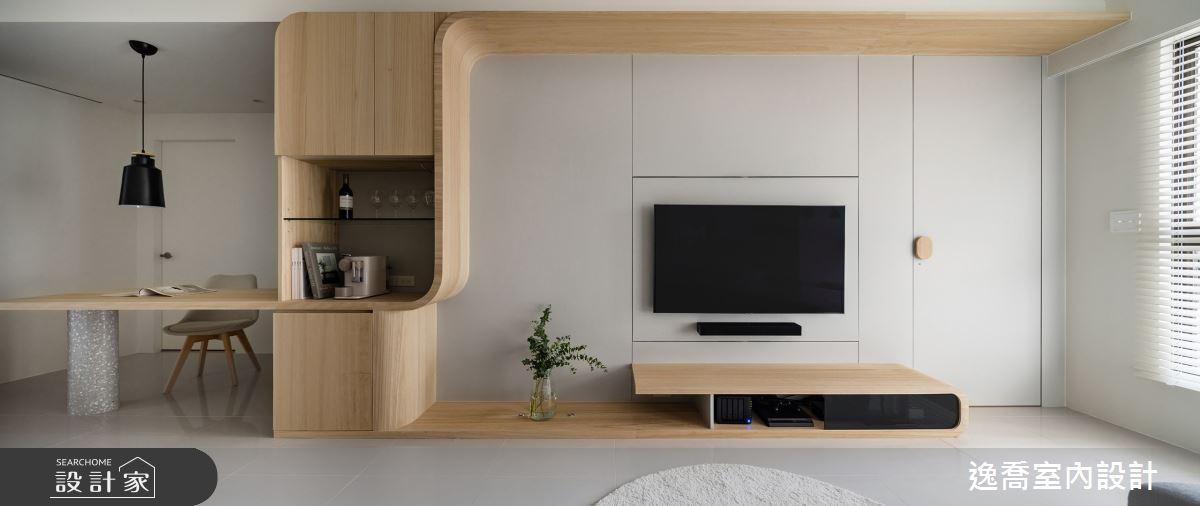 20坪新成屋(5年以下)_北歐風客廳案例圖片_逸喬室內設計_逸喬_留‧動 Flow之2