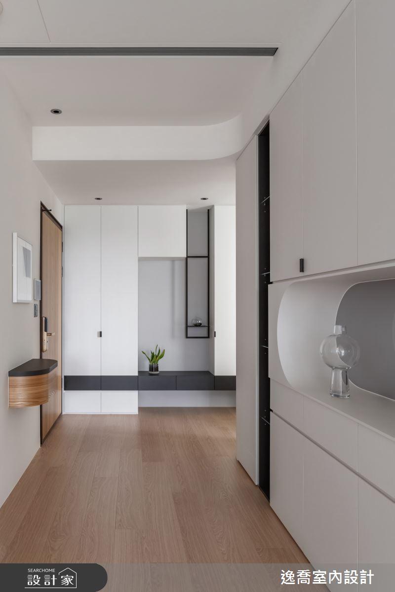 34坪新成屋(5年以下)_現代風玄關案例圖片_逸喬室內設計_逸喬_25之4