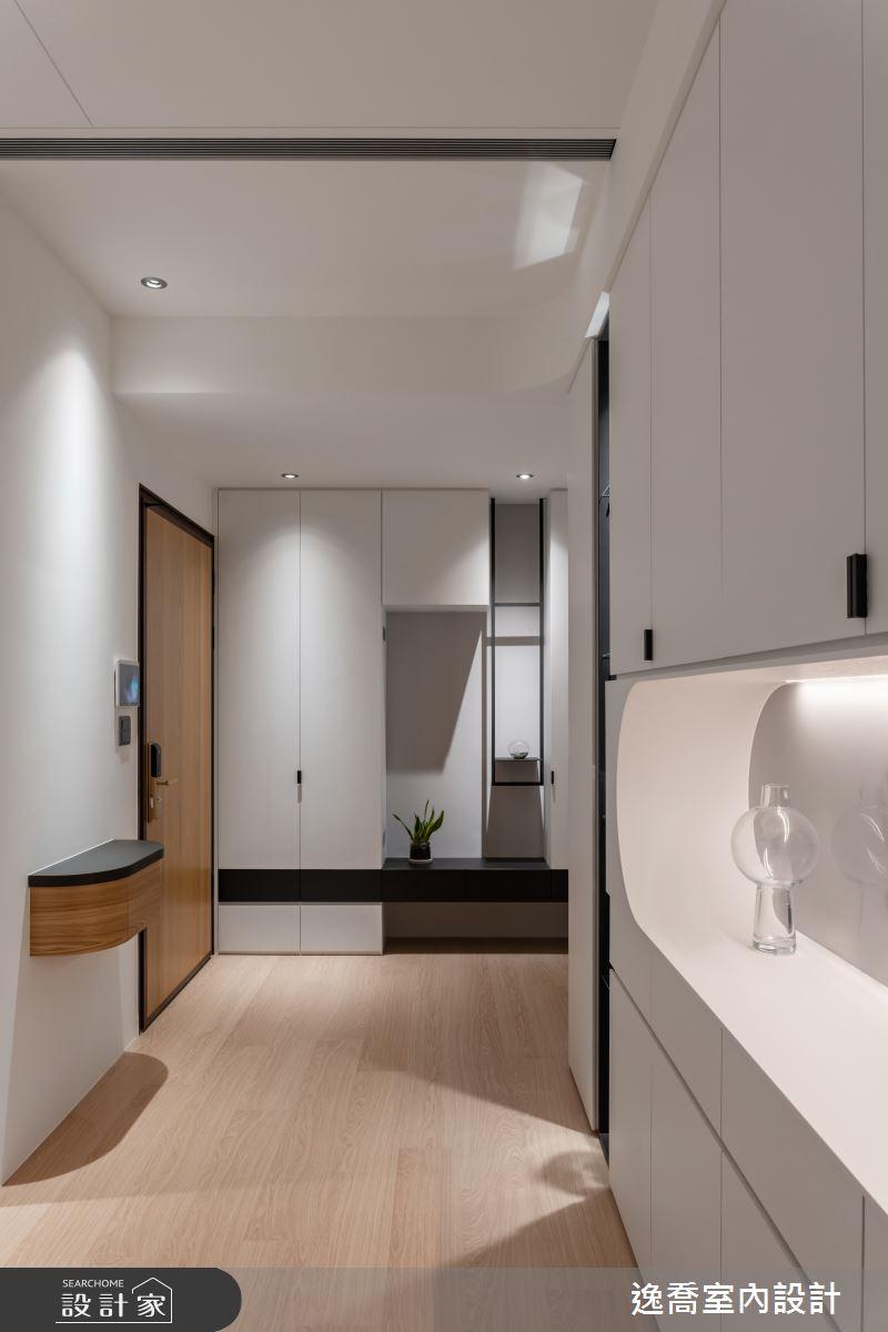34坪新成屋(5年以下)_現代風玄關案例圖片_逸喬室內設計_逸喬_25之5
