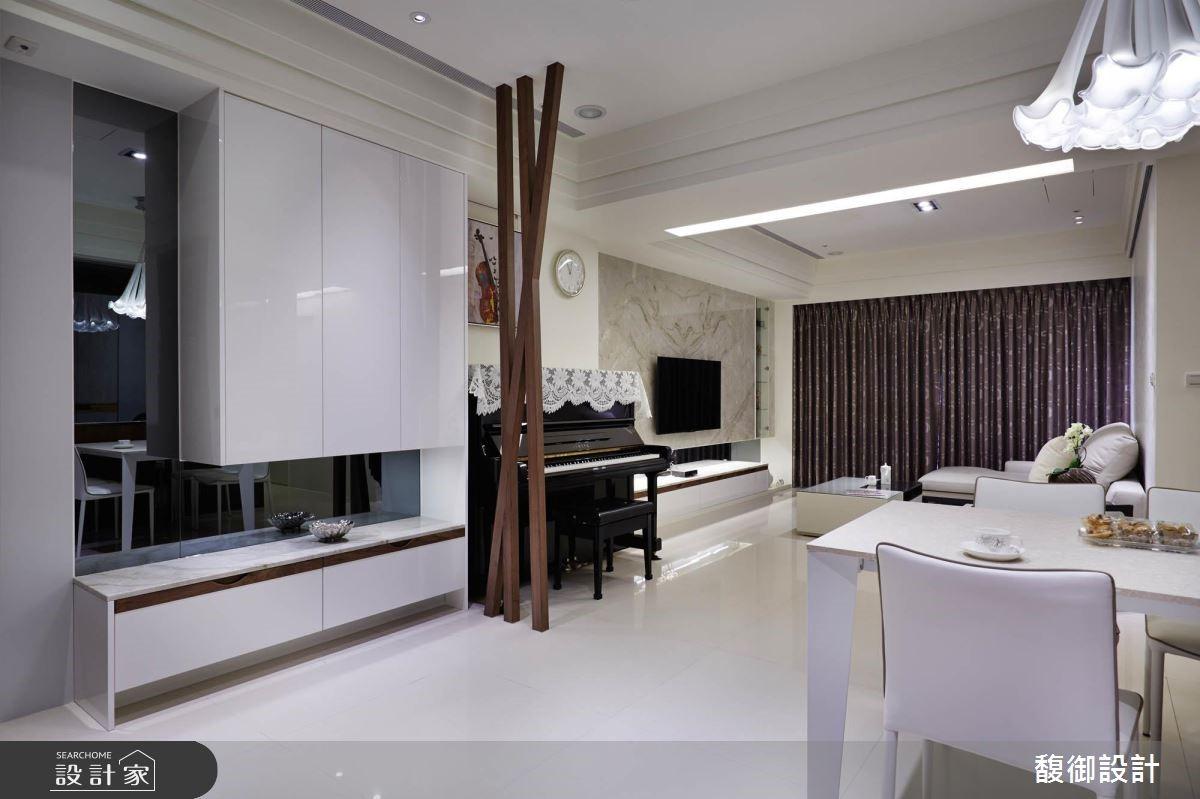 45坪新成屋(5年以下)_現代風客廳餐廳案例圖片_馥御室內裝修設計有限公司_馥御_01之4