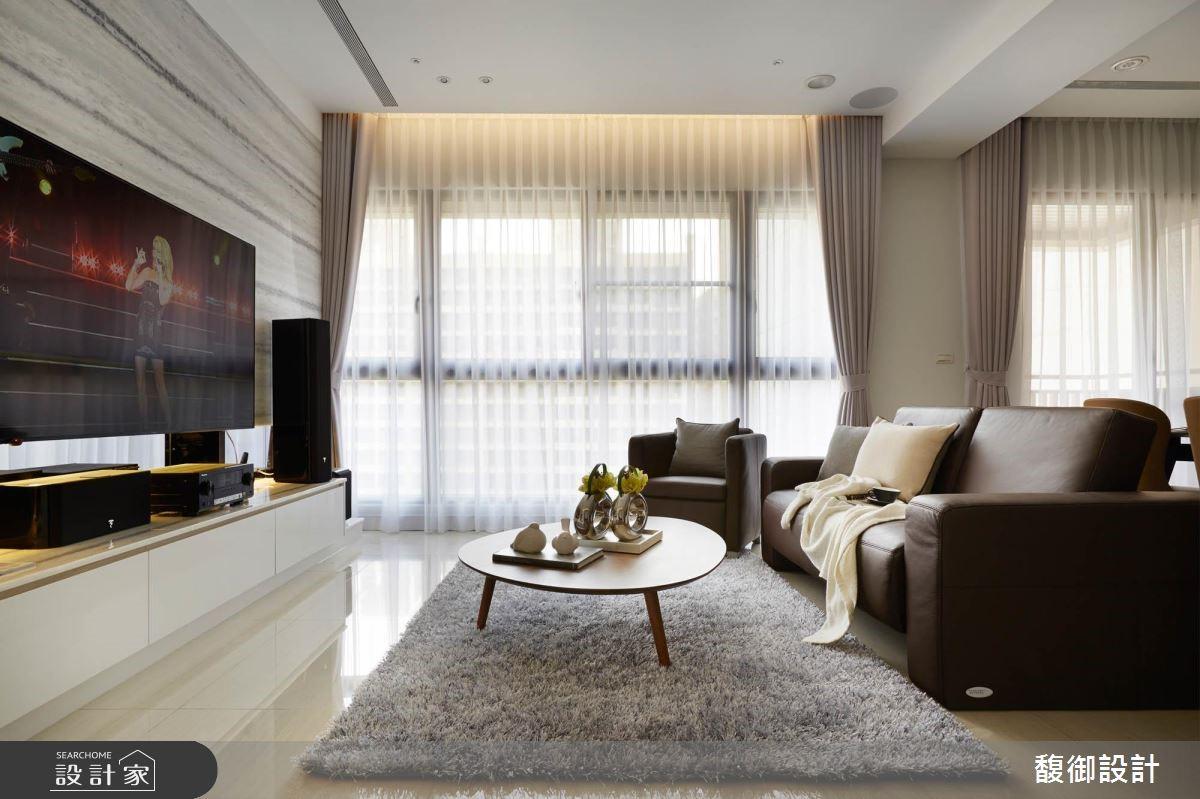 35坪新成屋(5年以下)_現代風客廳案例圖片_馥御室內裝修設計有限公司_馥御_03之3