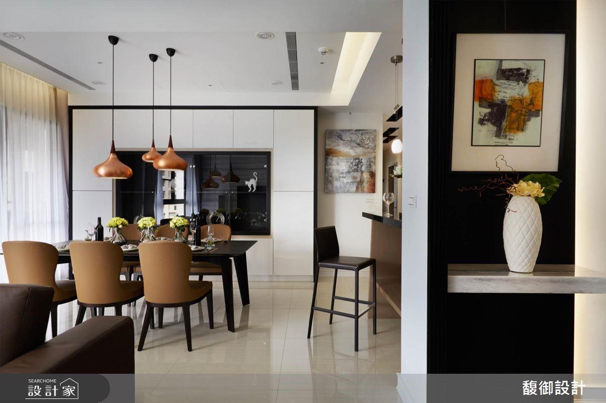 35坪新成屋(5年以下)_現代風餐廳案例圖片_馥御室內裝修設計有限公司_馥御_03之4