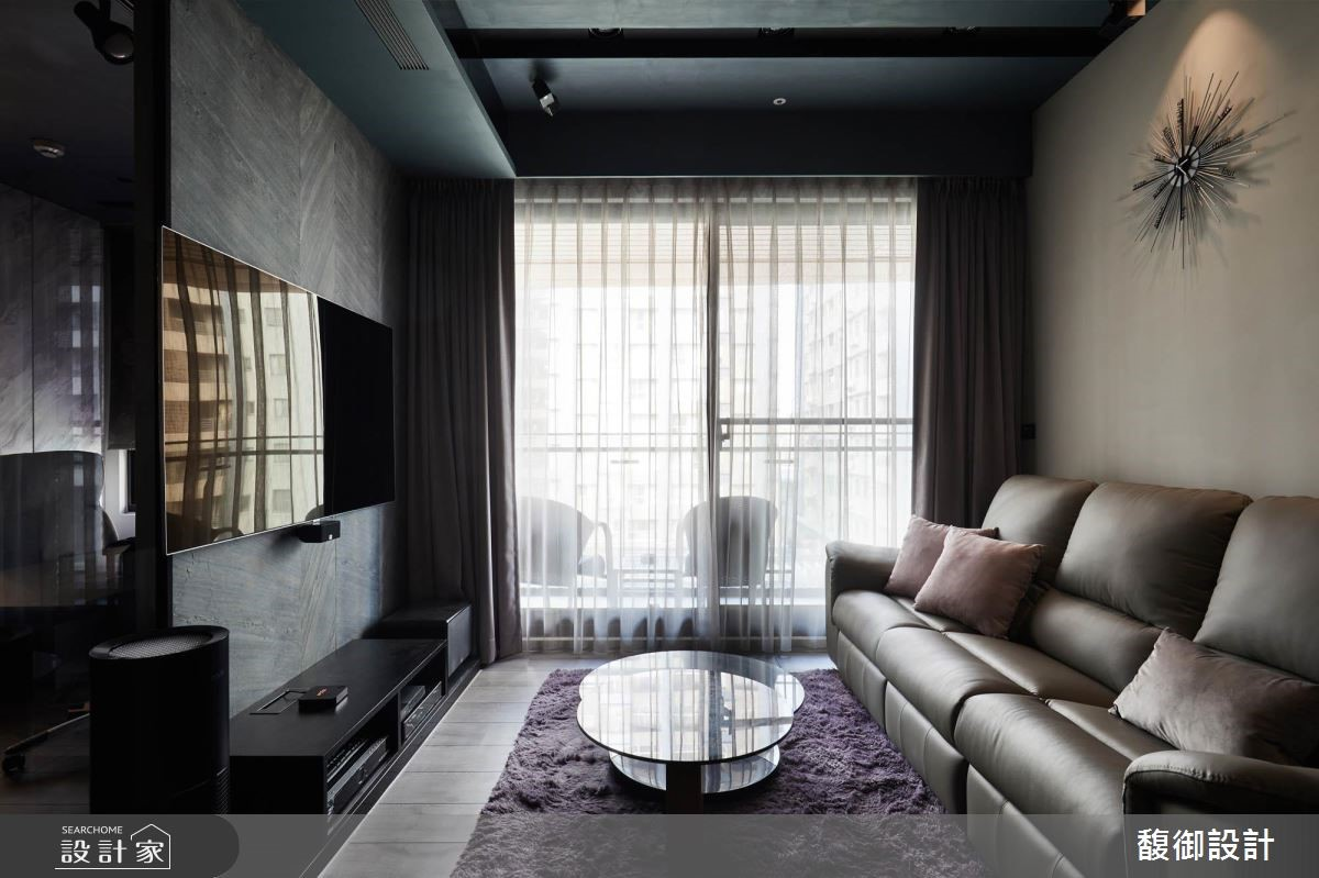 24坪新成屋(5年以下)_現代風客廳案例圖片_馥御室內裝修設計有限公司_馥御_05之2