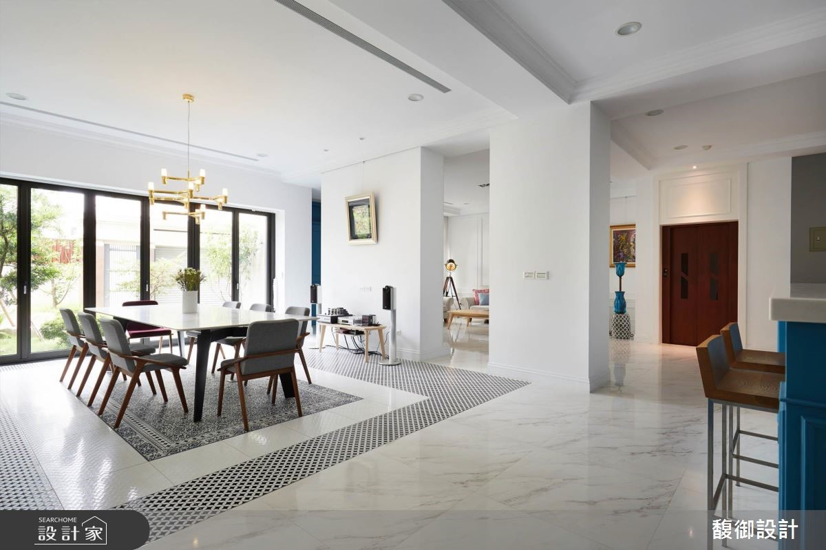 135坪新成屋(5年以下)_美式風餐廳案例圖片_馥御室內裝修設計有限公司_馥御_07之3