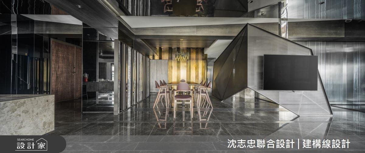 70坪新成屋(5年以下)_現代風玄關客廳餐廳案例圖片_沈志忠聯合設計·建構線設計_沈志忠_22之2