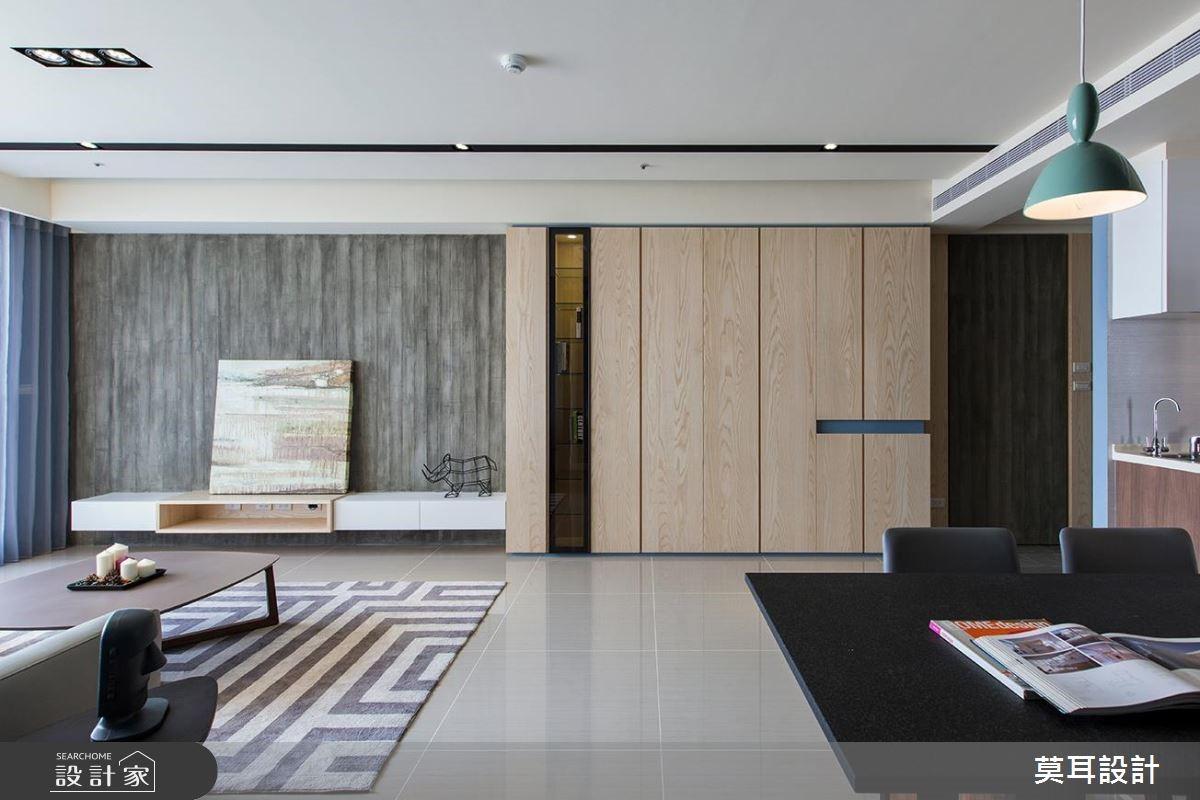 32坪新成屋(5年以下)_現代風客廳案例圖片_莫耳設計_莫耳_01之2