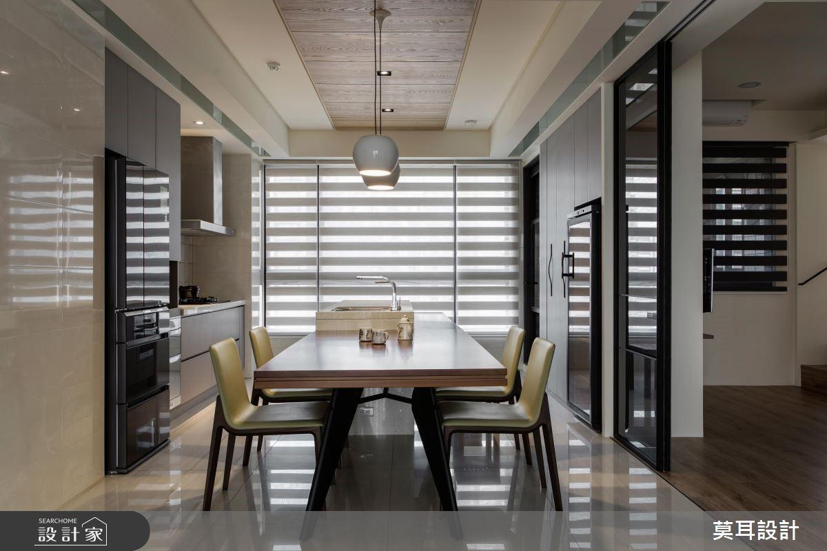 36坪新成屋(5年以下)_現代風餐廳案例圖片_莫耳設計_莫耳_02之3