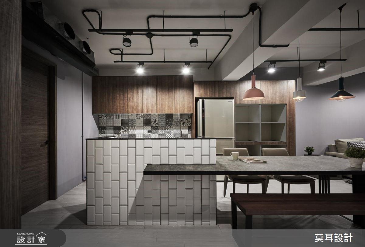 36坪老屋(16~30年)_工業風餐廳案例圖片_莫耳設計_莫耳_03之3
