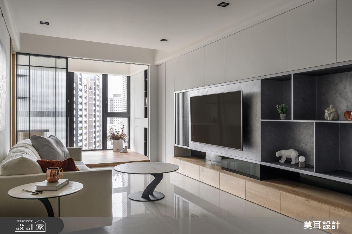 30坪新成屋(5年以下)_現代風客廳案例圖片_莫耳設計_莫耳_04之3