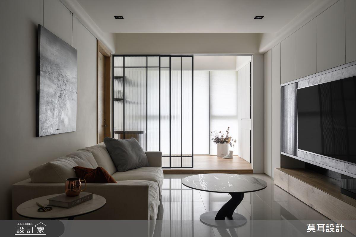 30坪新成屋(5年以下)_現代風客廳案例圖片_莫耳設計_莫耳_04之4