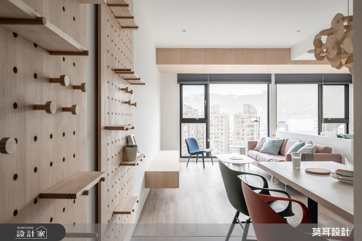 25坪新成屋(5年以下)_北歐風客廳餐廳案例圖片_莫耳設計_莫耳_07之4