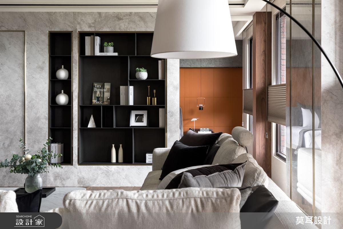 60坪新成屋(5年以下)_現代風客廳案例圖片_莫耳設計_莫耳_08之11