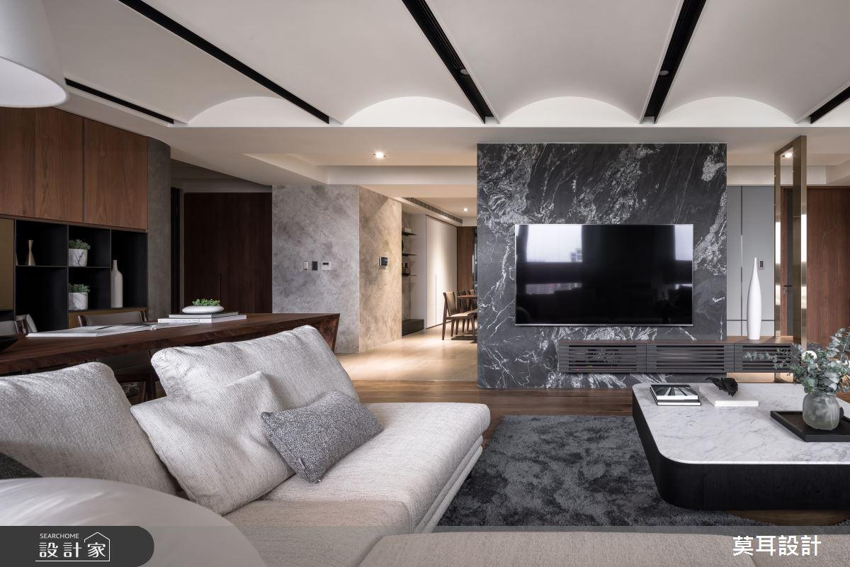 60坪新成屋(5年以下)_現代風客廳案例圖片_莫耳設計_莫耳_08之10