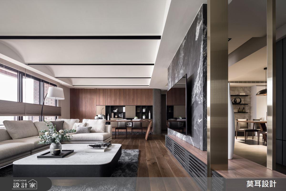 60坪新成屋(5年以下)_現代風客廳書房案例圖片_莫耳設計_莫耳_08之9