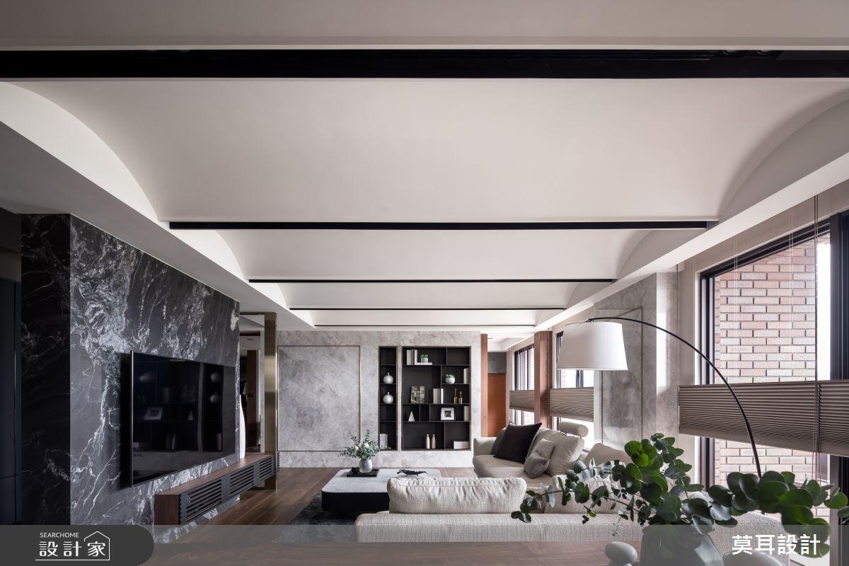 60坪新成屋(5年以下)_現代風客廳案例圖片_莫耳設計_莫耳_08之5