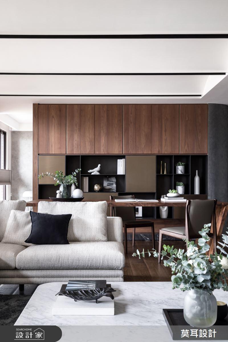 60坪新成屋(5年以下)_現代風客廳書房案例圖片_莫耳設計_莫耳_08之12