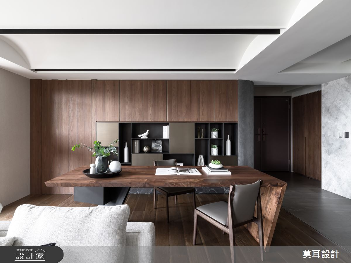 60坪新成屋(5年以下)_現代風書房案例圖片_莫耳設計_莫耳_08之13