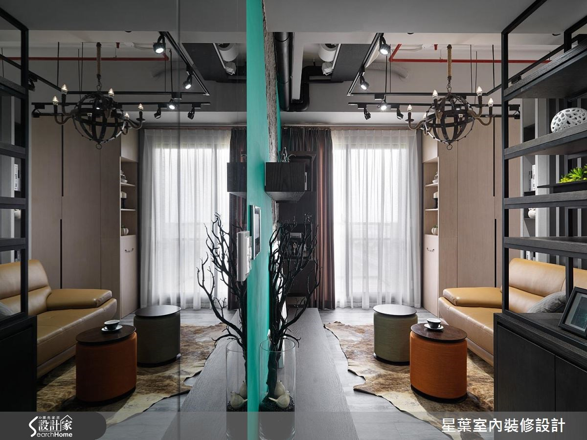 11坪新成屋(5年以下)_工業風客廳案例圖片_星葉室內裝修設計_星葉_17之2