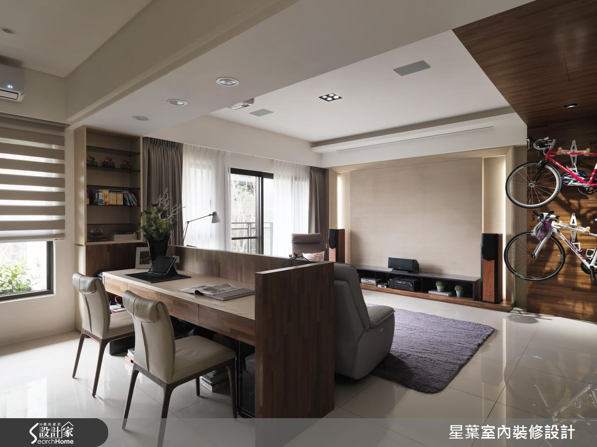30坪新成屋(5年以下)_現代風客廳工作區案例圖片_星葉室內裝修設計_星葉_19之2