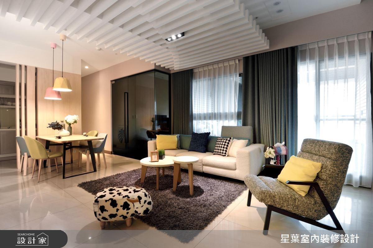 27坪新成屋(5年以下)_現代風客廳案例圖片_星葉室內裝修設計_星葉_23之4