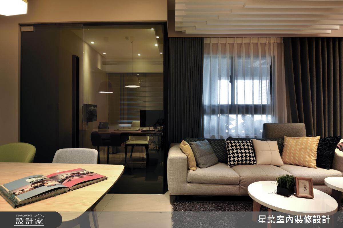 27坪新成屋(5年以下)_現代風客廳案例圖片_星葉室內裝修設計_星葉_23之13