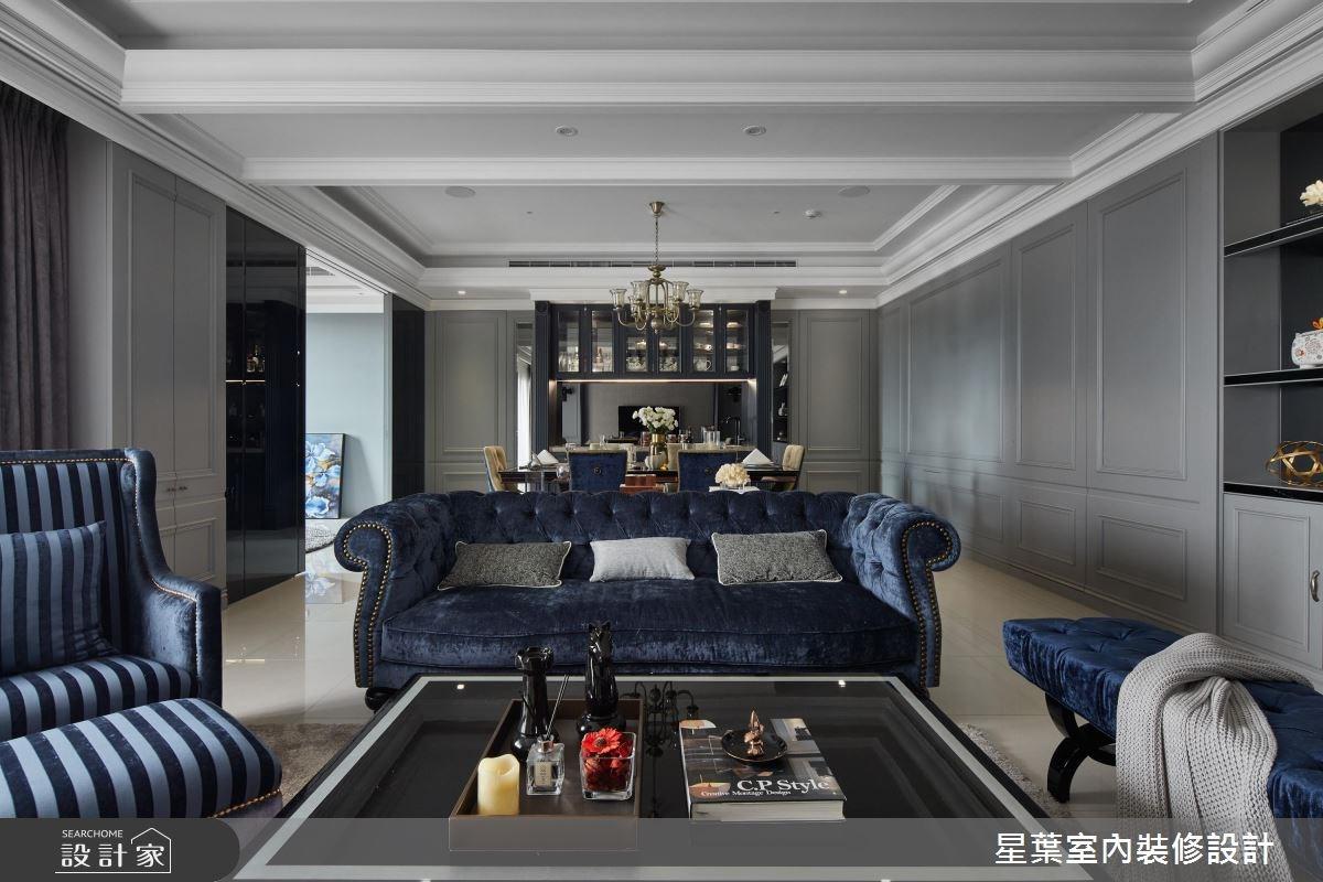 50坪新成屋(5年以下)_新古典客廳案例圖片_星葉室內裝修設計_星葉_24之3